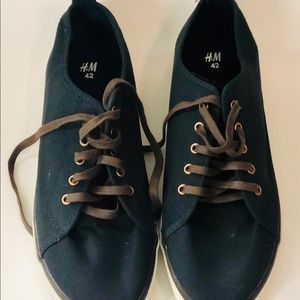H&M Shoes - H&M Blue Canvas Shoes